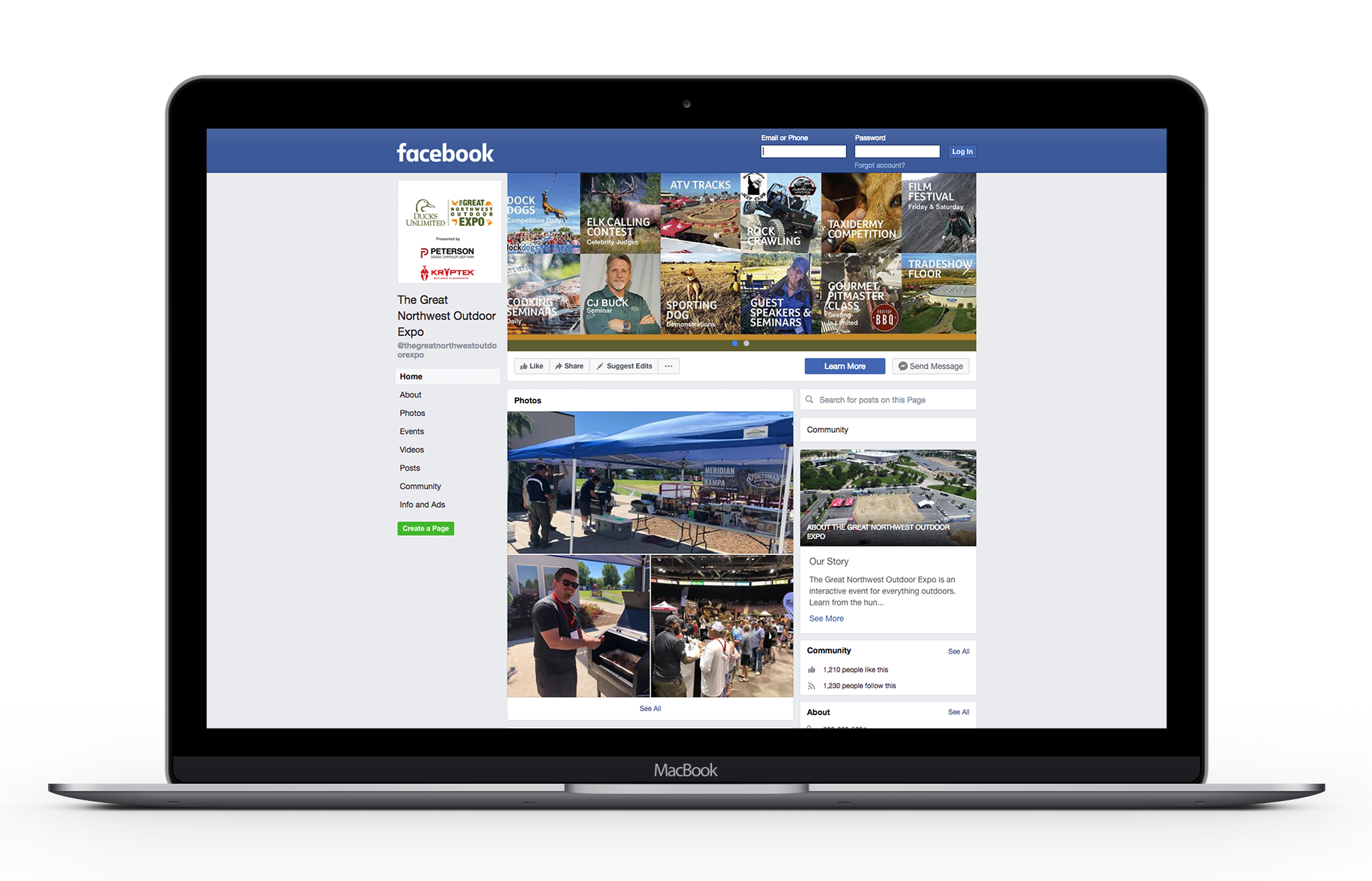 Great Northwest Outdoor Expo Facebook Marketing Social Media