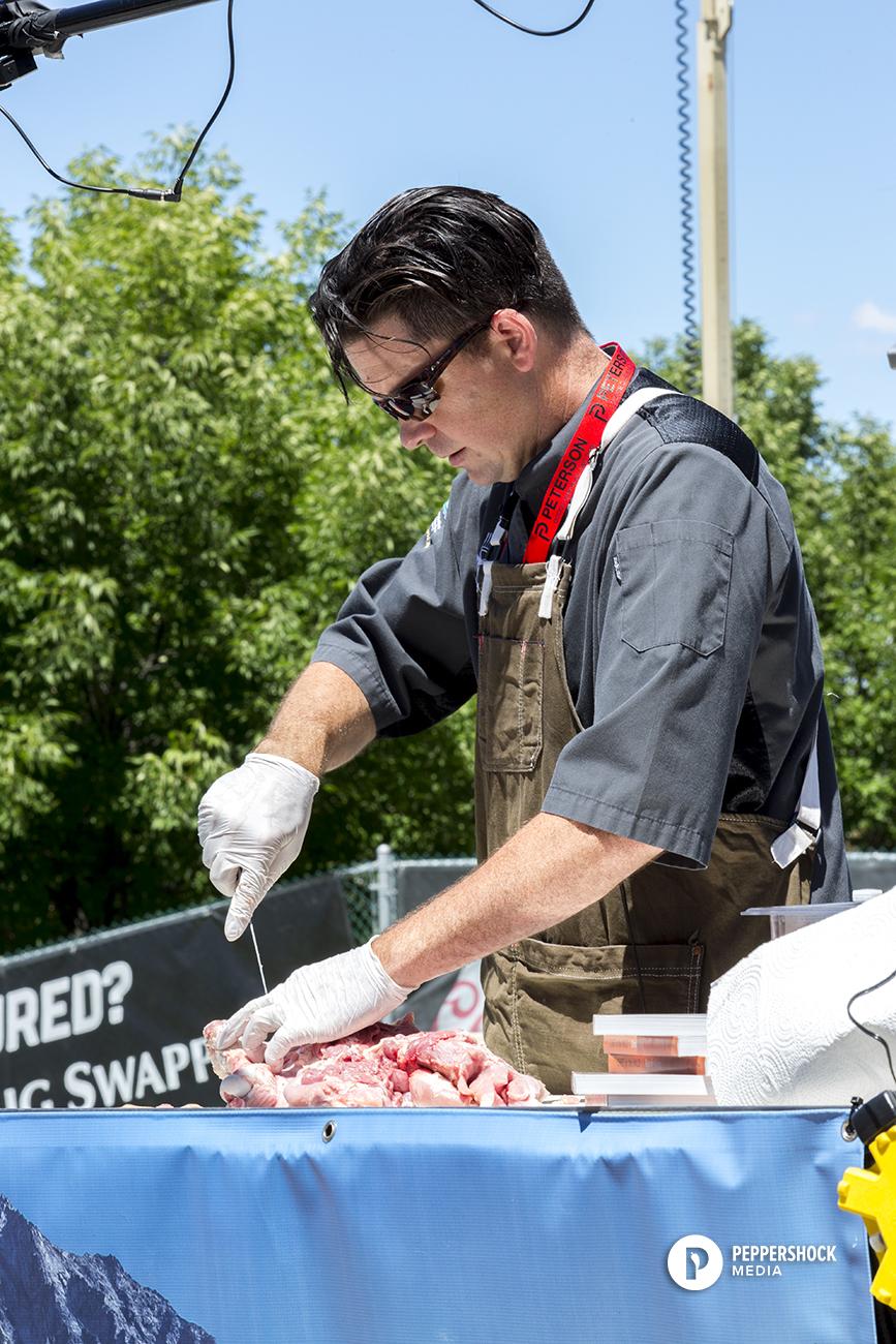 Pitmaster_EXPO_cooking_Great Northwest Outdoor Expo_Drew Allen