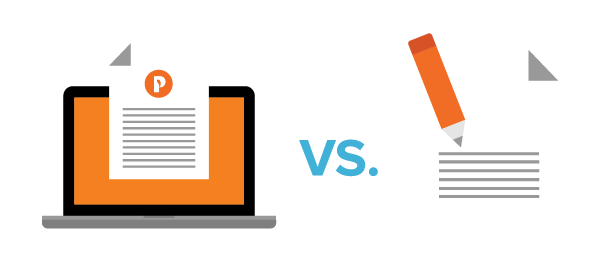 Content writing vs. copywriting graphic