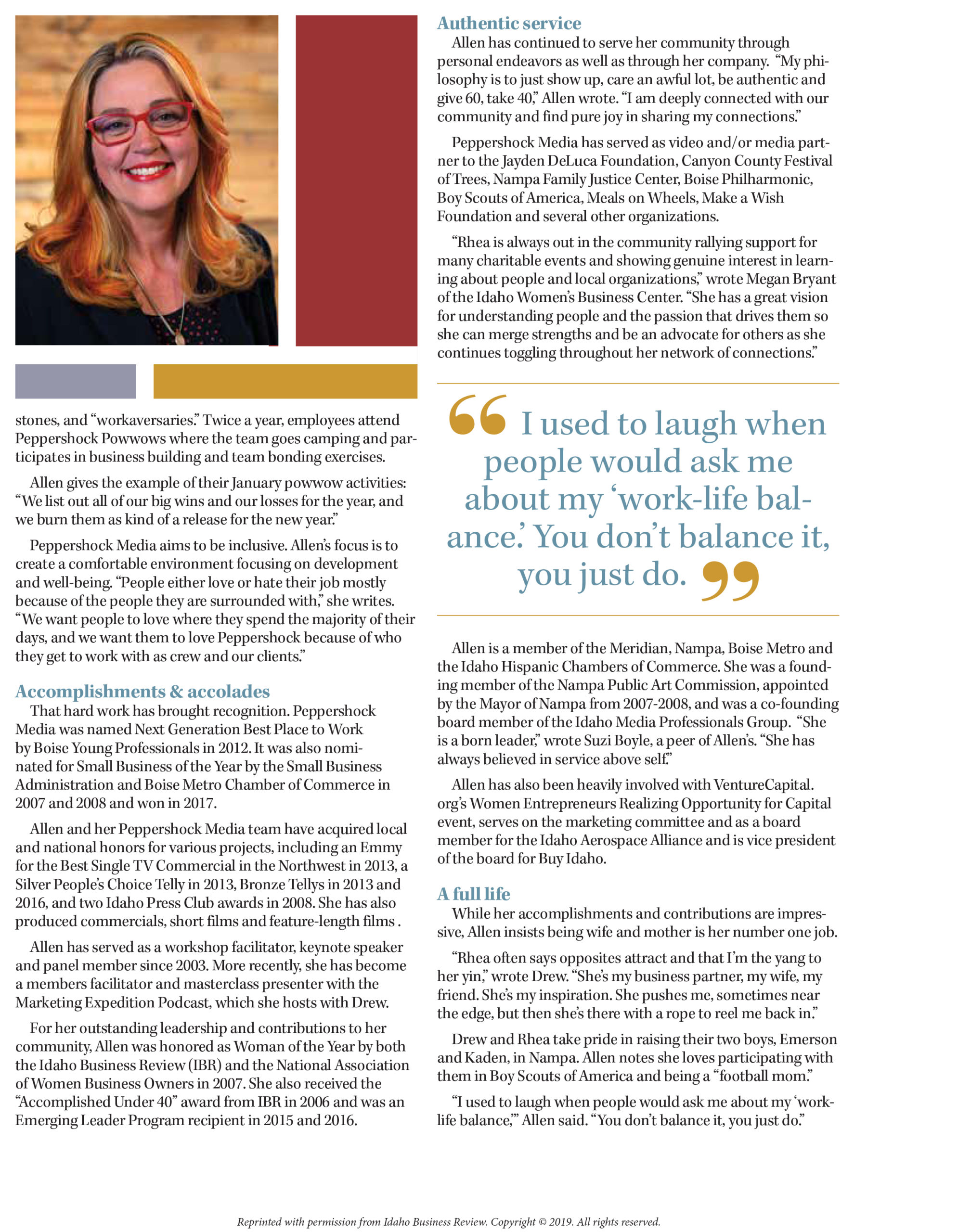 2020 CEO of Influence-Rhea Allen-Peppershock Media-Page-2