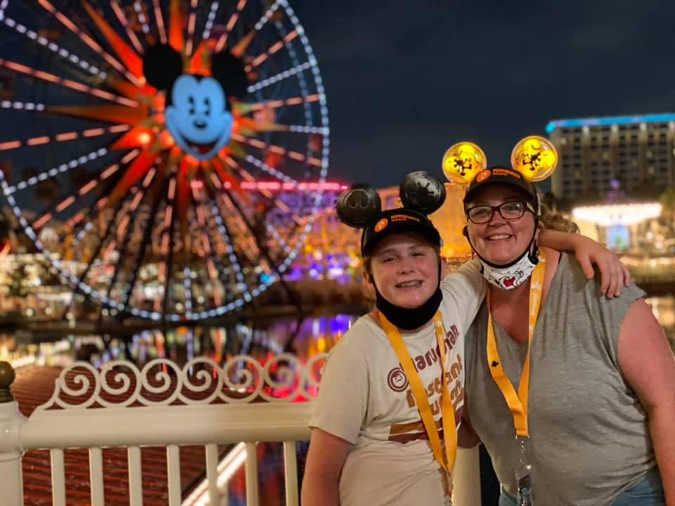 Rhea and Kaden Disneyland 2021